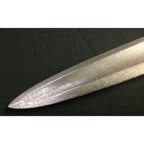 28 - British East India Company Sapper and Miner's sword bayonet made by Heighington. Designed to fit a B...