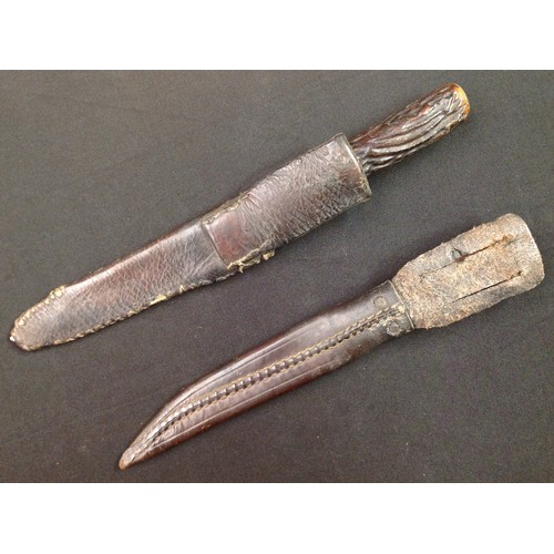 38 - Two Hunting knives: