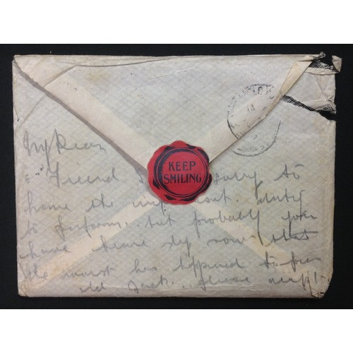 60 - WW1 British tragic letter from a sister to her borther sent on Oct 27th 1918 and returned to say her...