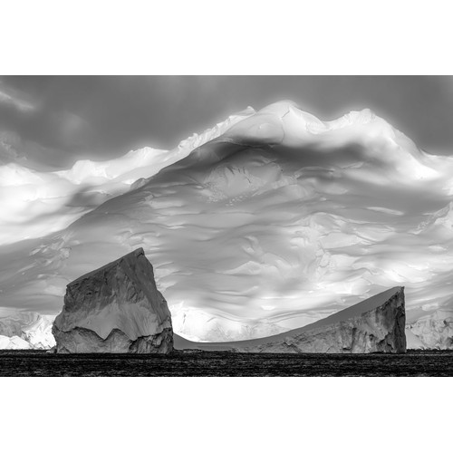 10 - Chris Packham, Antarctica, a large-scale photo, 99cm x 134cm, framed. Extraordinarily creative and p...