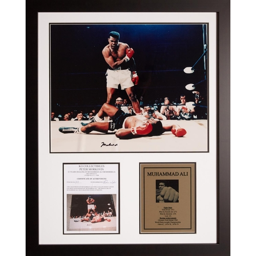 7 - Muhammad Ali – The Phantom Punch, a large scale photograph of the famous bout between Muhammad Ali a...