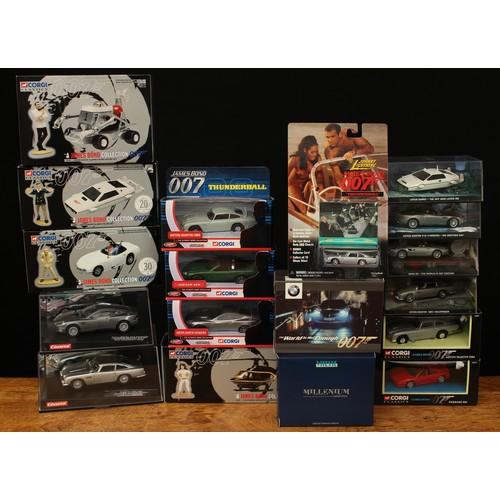41 - Carrera James Bond cars, comprising 25467 Evolution Aston Martin Vanquish, window boxed and 25735 Ev...