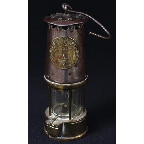 57 - A miner's lamp, Eccles Protector, No.54, 25cm