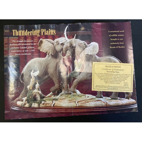23 - A large brooks & Bentley limited edition figure, Thundering Plains, 235/2500, with certificate, 31cm...