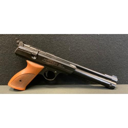 32 - A Rogers AR American 1.77cal Power line air pistol, side crank action, 34cm long.