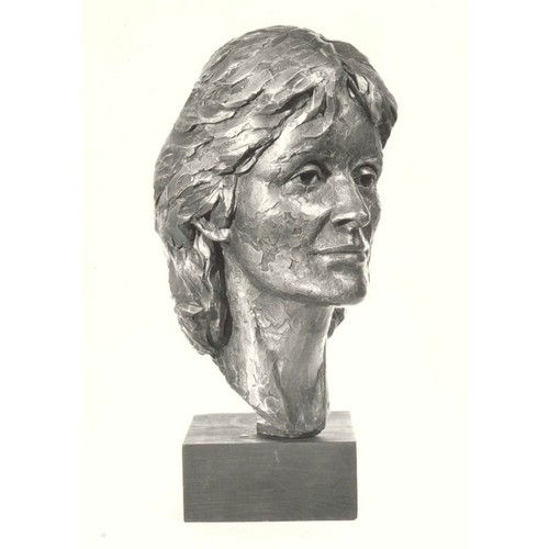 22 - Lucy Poett, Your Mother, Study of Virginia, 43.8cm high x 28cm wide x 19cm deep, bronze, marble plin...