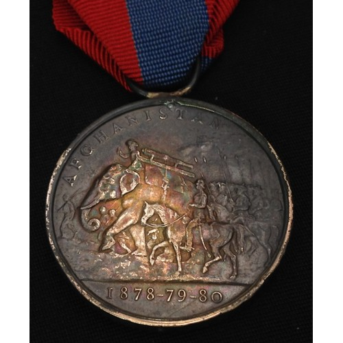 2 - British Afghanistan Campaign Medal to 1944 G. G. Winterbotham L/5 RA. Suspender is missing, there is...
