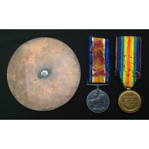 7 - WW1 British Medal Group to 41066 Pte John Jennett, Yorkshire Light Infantry, comprising of Death Pla...