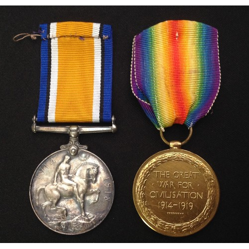 10 - WW1 British Medals: War Medal to 9014 BMBR SA Spooner, RA complete with original ribbon: And a Victo...