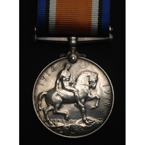 12 - WW1 British War Medal to 267020 Pte GF Collins, 1/8th Notts & Derbyshire Regt. Complete with replace...