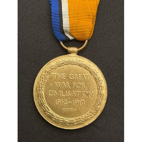 13 - WW1 British Victory Medal to 334872 Pnr. RS Donaldson, Royal Engineers. Has a ribbon from the War Me...