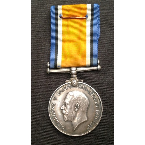 14 - WW1 British War Medal to 28351 Pte Charles A Perry, Bedfordshire Regt. Complete with original ribbon...