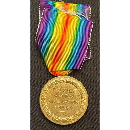 15 - WW1 British Victory Medal to 2914 Pte James Alfred Smith, 8-Lon Regt. (Post Office Rifles) later 370...