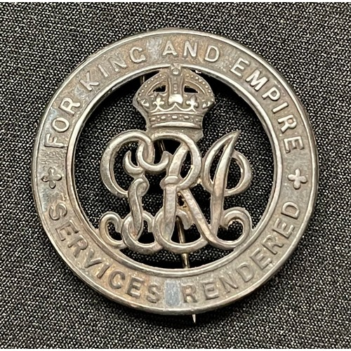 17 - WW1 British Silver War Badge serial number 370248 awarded to 23128 Pte Walter Bingham, Notts & Derby...
