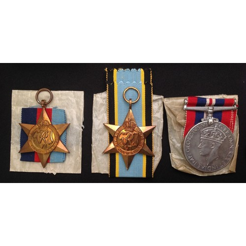 20 - WW2 British RAF Bomber KIA medal group to Sergeant Frank Charles Diggle of Nottingham. Comprising of...