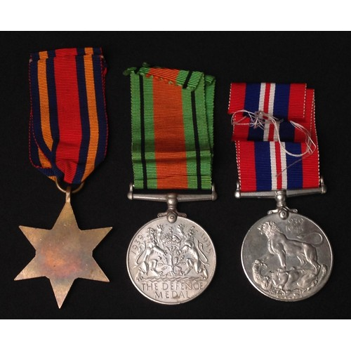 28 - WW2 British Burma Star, Defence Medal and War Medal. All complete with original ribbons.
