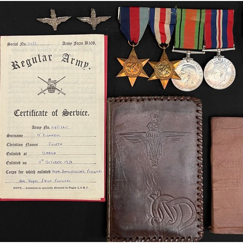 30 - WW2 British Arnhem PoW's Medal Group to 6977845 Pte Joseph O'Donnell. Pte O'Donnell was a pre war re...
