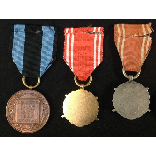 34 - Polish Medal Collection comprising of : Armed Forces of the Fatherland Medal in Bronze, Silver and G...