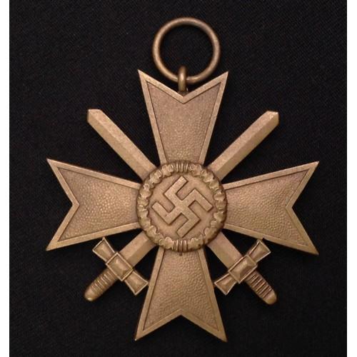37 - WW2 Third Reich Kriegsverdienstkreuz 2.Klasse mit Schwertern - War Merit Cross 2nd Class with Swords...