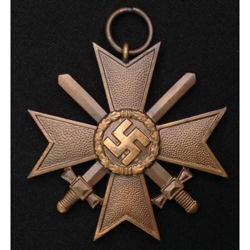 38 - WW2 Third Reich Kriegsverdienstkreuz 2.Klasse mit Schwertern - War Merit Cross 2nd Class with Swords...