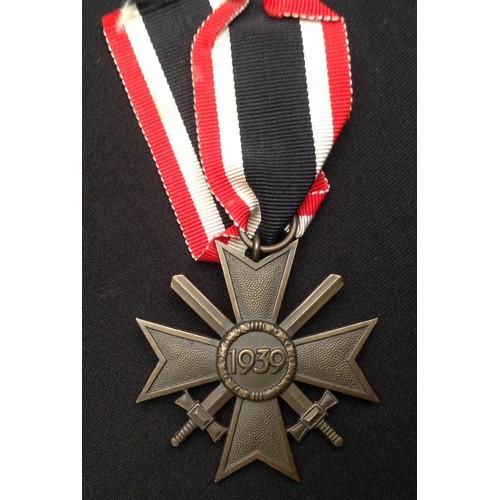 42 - WW2 Third Reich Kriegsverdienstkreuz 2.Klasse mit Schwertern - War Merit Cross 2nd Class with Swords...