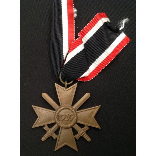 43 - WW2 Third Reich Kriegsverdienstkreuz 2.Klasse mit Schwertern - War Merit Cross 2nd Class with Swords...