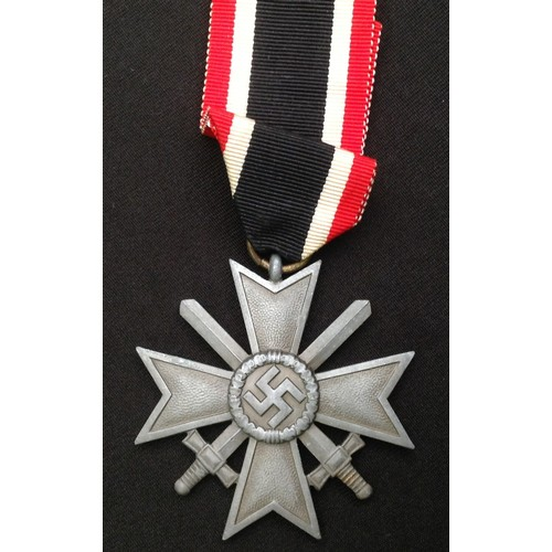 44 - WW2 Third Reich Kriegsverdienstkreuz 2.Klasse mit Schwertern - War Merit Cross 2nd Class with Swords...