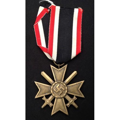 47 - WW2 Third Reich Kriegsverdienstkreuz 2.Klasse mit Schwertern - War Merit Cross 2nd Class with Swords...