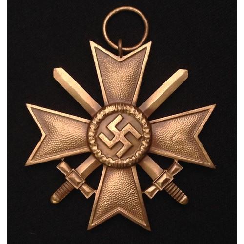 48 - WW2 Third Reich Kriegsverdienstkreuz 2.Klasse mit Schwertern - War Merit Cross 2nd Class with Swords...