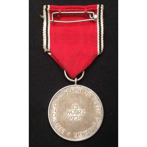 52 - WW2 Third Reich Medaille zur Erinnerung an den 13. März 1938 - Commemorative Medal 13 March 1938. Co...