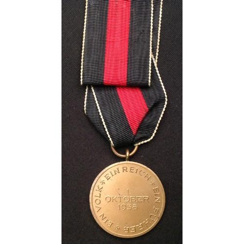 53 - WW2 Third Reich Medaille zur Erinnerung an den 1. Oktober 1938 - Commemorative Medal October 1st 193...