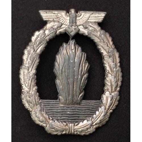 58 - WW2 Third Reich Kriegsabzeichen für Minensuch-, U-Boots-Jagd- und Sicherungsverbände - Minesweeper W...
