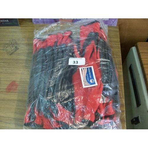 33 - Bag of Work Gloves...