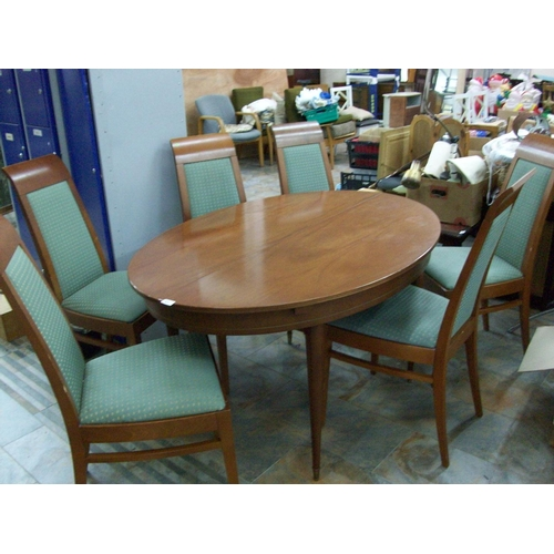57 - Lovely Oval Table & 6 Chairs...