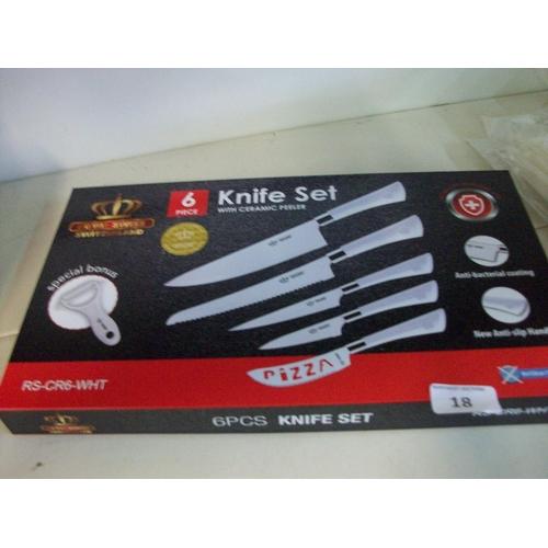 18 - New 6pce Knife Set...