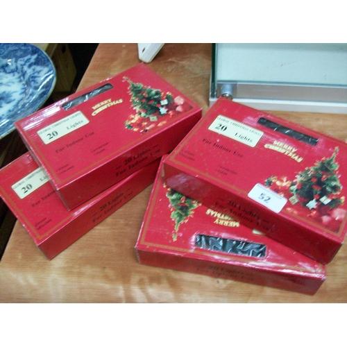 52 - 4 Packs of Indoor Christmas Lights...