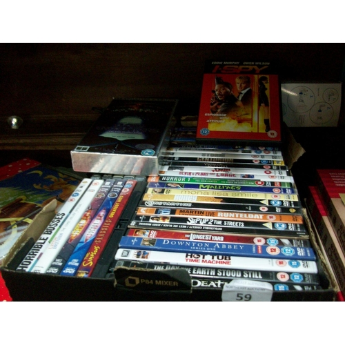 59 - Box Lot of DVDs...