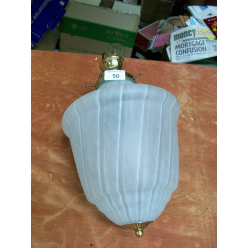 50 - Ceiling Light with Globe Shade...