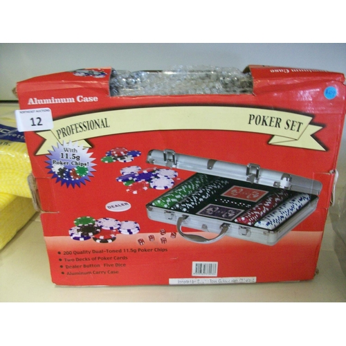 12 - Brand New Poker Set with Case...