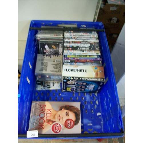 24 - Selection of DVDs, CDs & Book...