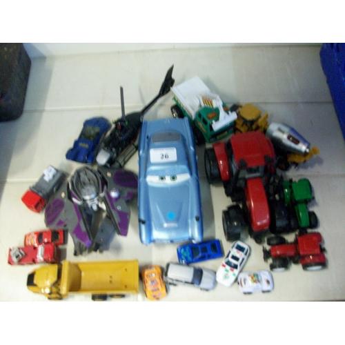 26 - Job Lot of Child's Toy Vehicles...