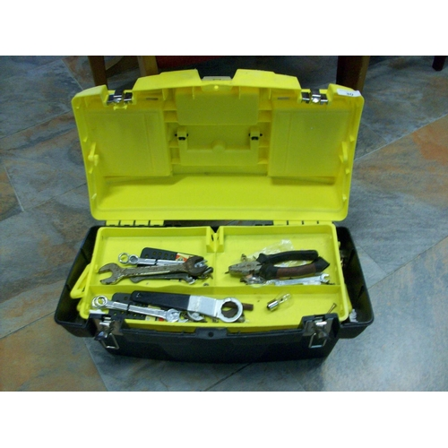 30 - Stanley Tool Box with Tools...