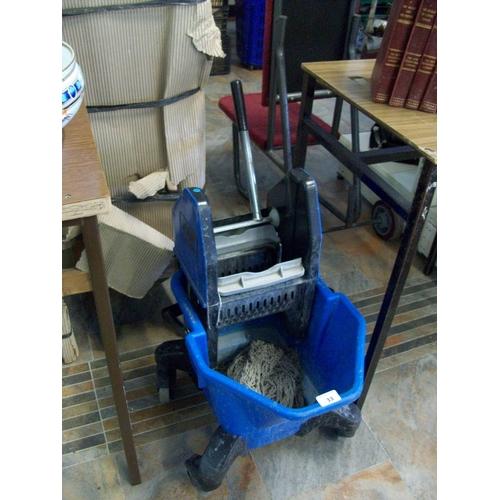 33 - Industrial Mop Bucket & Wringer...