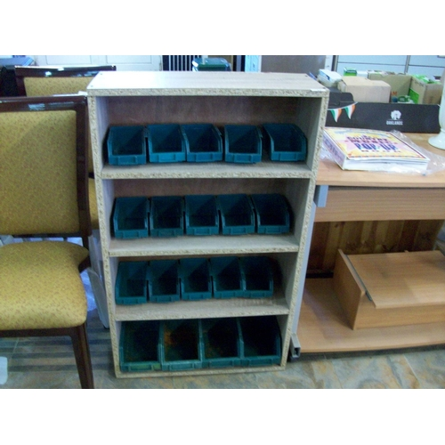 37 - Shelving Cabinet with Storage Trays...