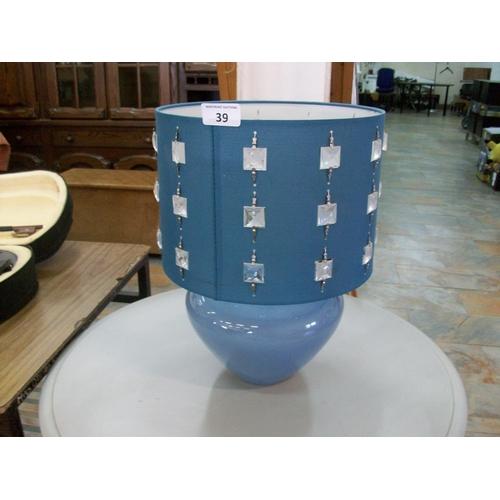 39 - Decorative Denby Table Lamp (w)...