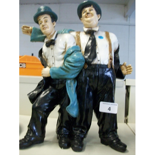 4 - Laurel & Hardy Figurine...