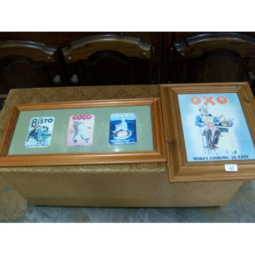 42 - 2 Advertising Signs in Pine Frames...