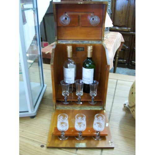 44 - Wooden Drinks Cabinet including Glasses...