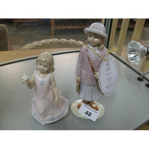 48 - 2 Leonardo Figurines...