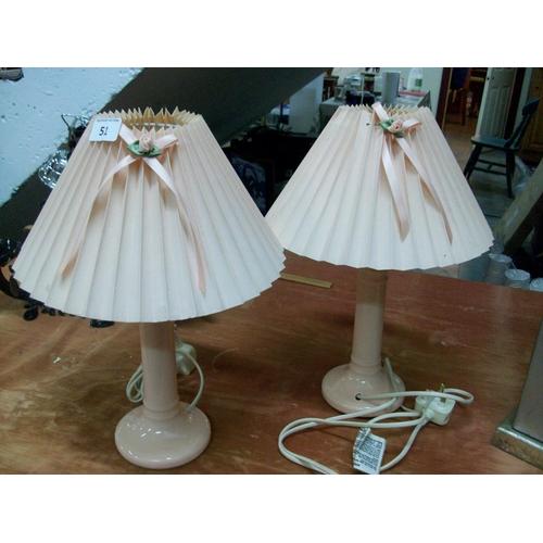 51 - 2 Bedside Lamps (w)...